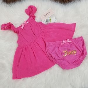 🆕️ Juicy Couture Pink 2pc Summer Baby Girl Dress